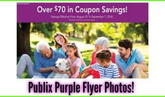Publix Purple Flyer Preview! 8/25 – 9/7