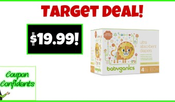 Babyganics Boxed Diapes $19.99 at Target!