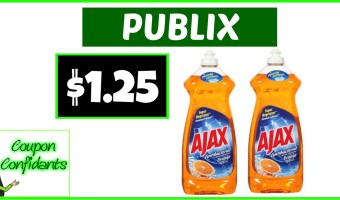 Ajax Dish Soap for CHEAP at Publix!