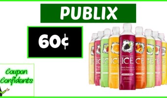 60¢ each Sparkling Ice at Publix!