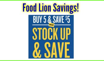 Food Lion Buy 5 Save 5! No coupons needed!