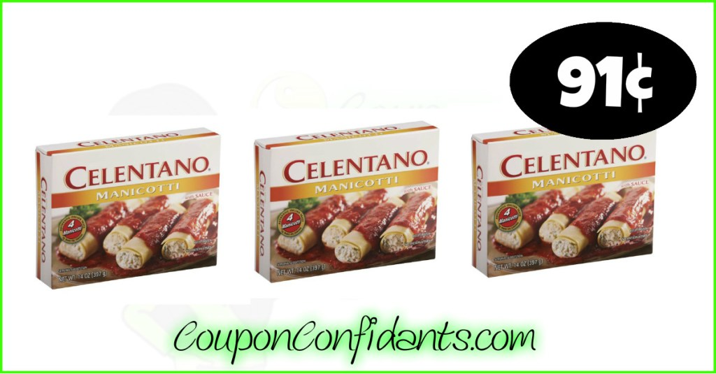 Celentano Pasta only 91¢ at Publix!