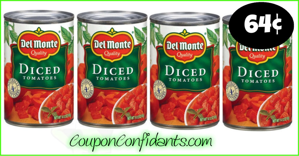 Stock up price on Del Monte tomatoes at Publix!