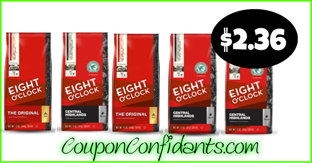 Eight O' Clock Coffee only $2.36 at Publix!!