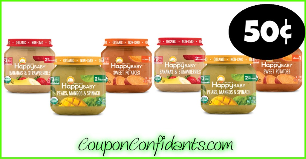 50¢ Happy Baby Food at Publix!!