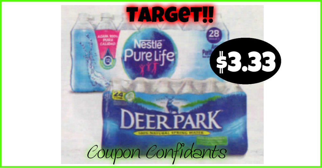 Water Deals at Target! No Coupons needed!