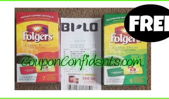 FREEBIE at Bi-lo, $0.50 at Winn Dixie for Folgers Coffee!