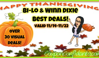 Bi-lo and Winn Dixie BEST Deals 11/14 – 11/22