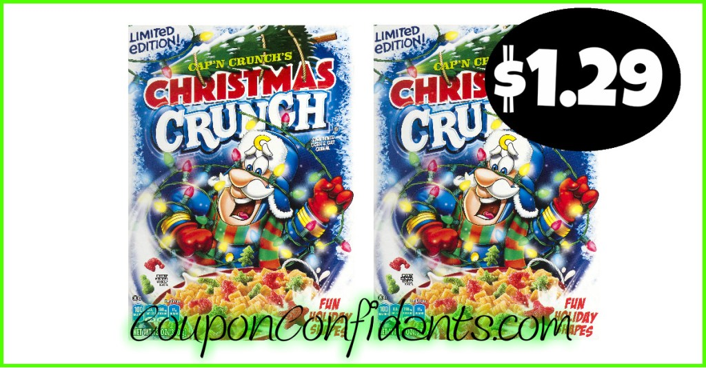 Cap'n Crunch Christmas Crunch only $1.29 each at Publix!