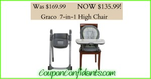 Graco 7-in-1 Convertible High Chair only $139.99!