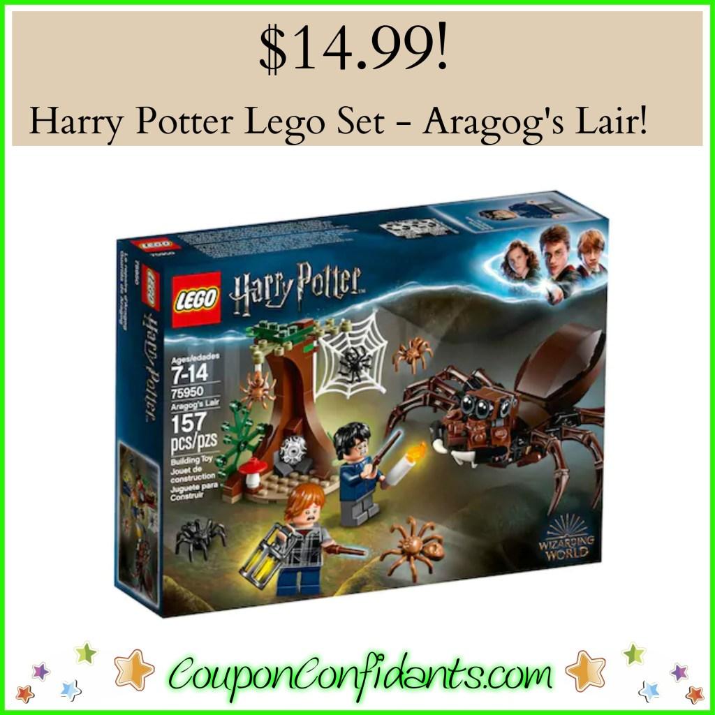Harry Potter Aragog's Lair Lego Set only $14.99!