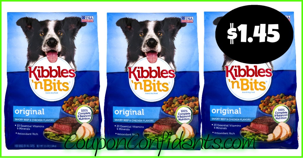 Kibbles N Bit as low as $1.45 at Publix! Barking GOOD deal!