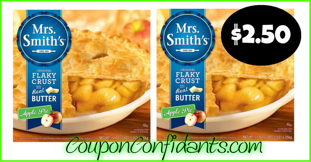 $2.50 Mrs. Smith's Pies at Food Lion too!!