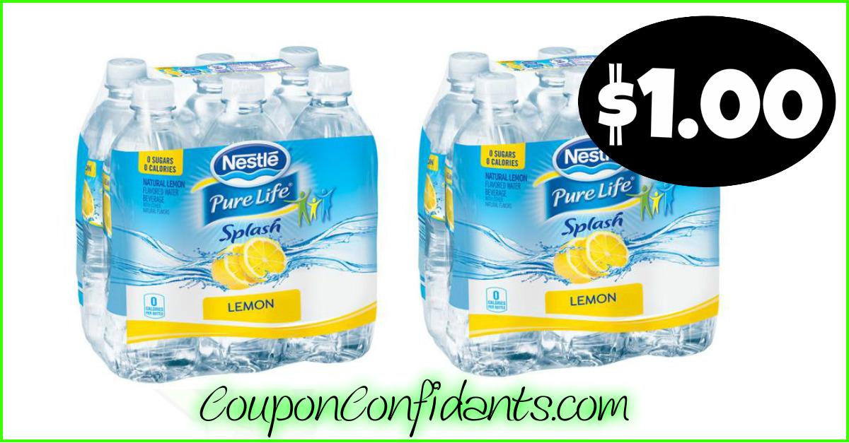 Nestle Pure Life Splash $1 at Publix! YES! ⋆ Coupon Confidants