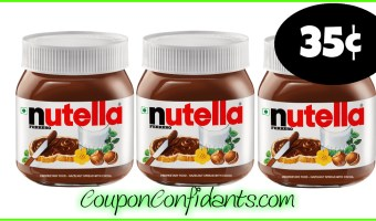 35¢ Nutella at Winn Dixie and Bilo! YES!