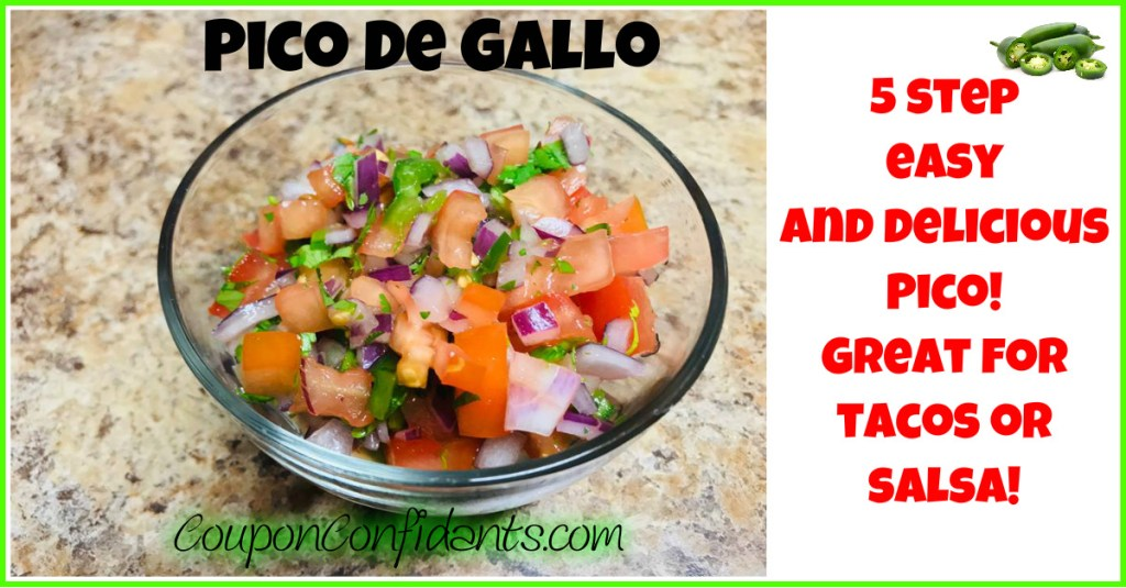 Five Step Easy Pico De Gallo Recipe!