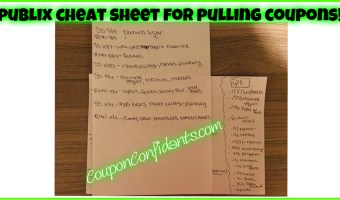 Publix Cheat Sheet for fast coupon pulling and printing!