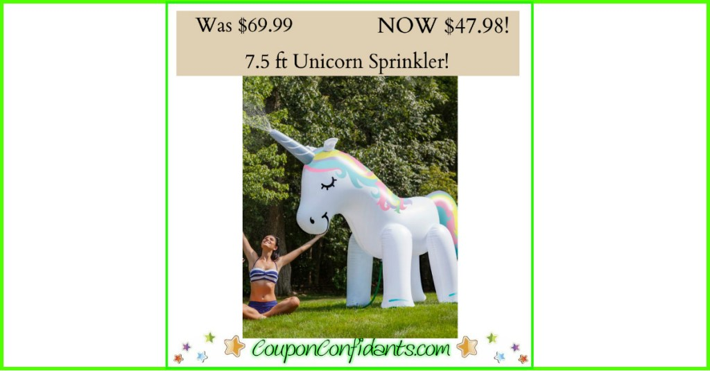 Unicorn Sprinkler 7.5 ft tall only $47.98