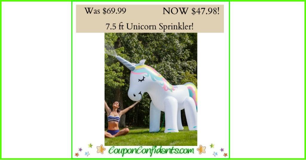 Unicorn Sprinkler 7.5 ft tall only $47.98