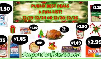 Publix Best Deals and FULL LIST! Christmas AD! Dec 19 – 24 or Dec 20 – 26