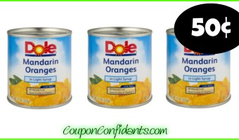 50¢ Dole Canned Fruit at Publix! YUM!!