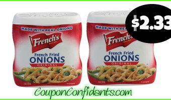 French's Fried Onions only $2.33 each at Publix!