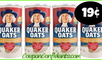 19¢ Quaker Oats at Publix! YES!