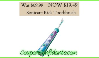 Sonicare Kids Toothbrush only $19.49!