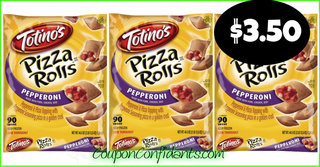 Totino's Pizza Rolls, $3.50 for the BIG bags at Publix!