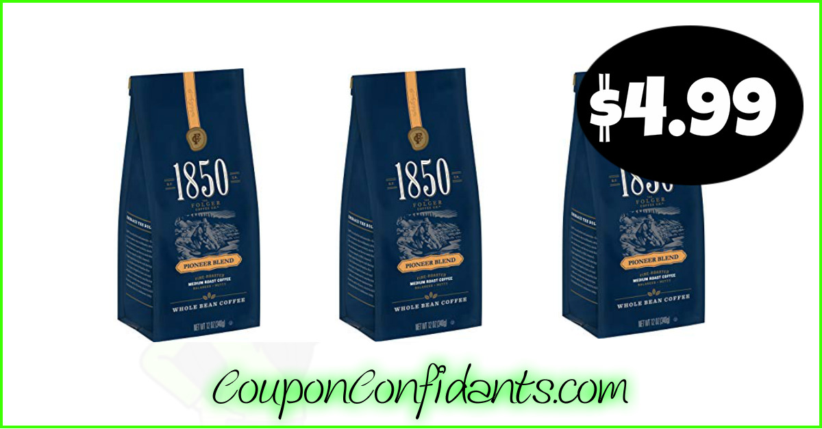 image about Folgers Coffee Coupons Printable called 1850 by means of Folgers Espresso at Publix just $4.99! ⋆ Coupon