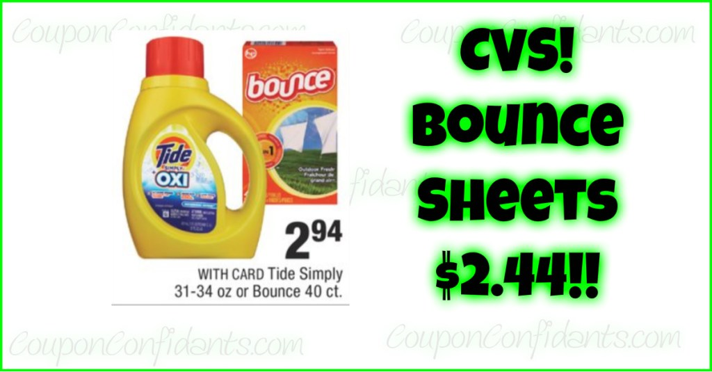 Bounce Sheets only $2.44 at CVS – ANYONE can do this deal!