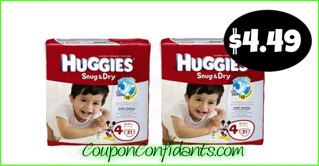 Huggies Diapers $3.99 – $4.49 EACH at Publix! Cheap Diapers!