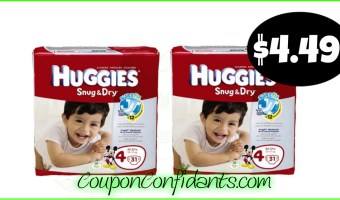 Huggies Diapers $4.49 at Publix! Cheap Diapers!