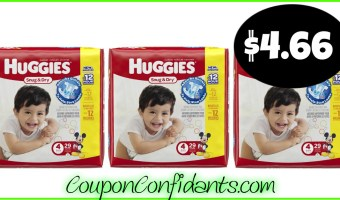 Huggies only $4.66 per pack at CVS! YES!