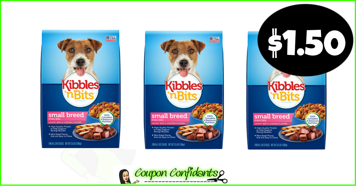 image about Kibbles and Bits Printable Coupons identified as Kibbles N Bits Canine Meals at Bilo and Winn Dixie! ⋆ Coupon