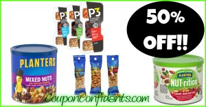 WOW!!! 50% Planters Nuts Sale right NOW!!