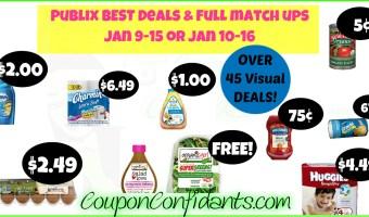 Publix BEST Deals and FULL match ups Jan 9 – 15 or Jan 10 – 16
