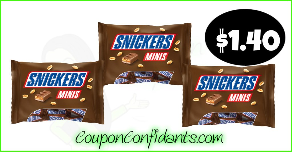 Snickers only $1.40 each bag at Publix! YUM!