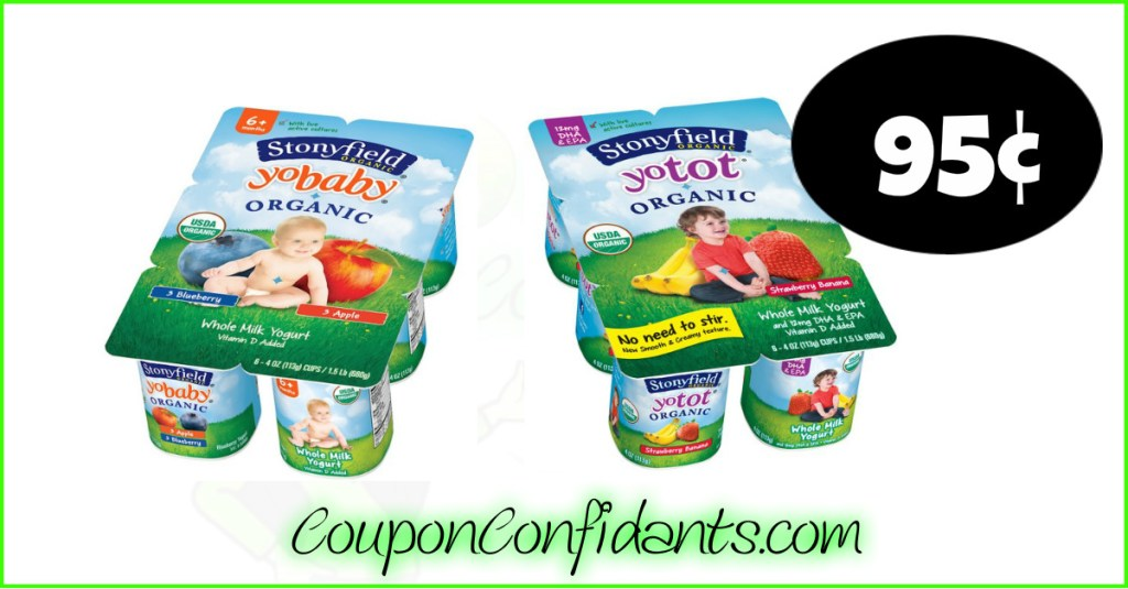 Stonyfield Yogurt Packs only 95¢ at Publix!