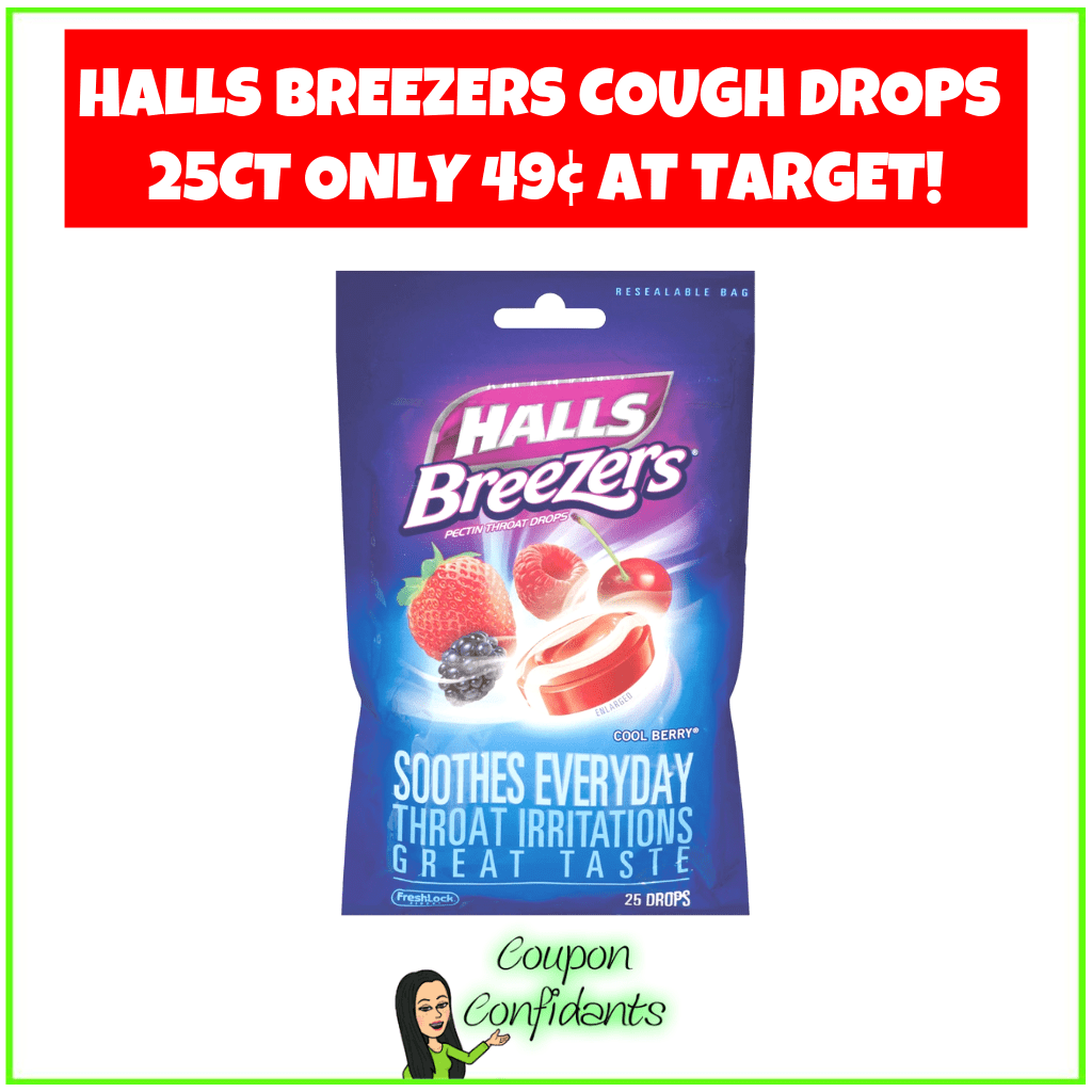 Halls Breezers Cough Drops 25ct Only 49¢ at Target!