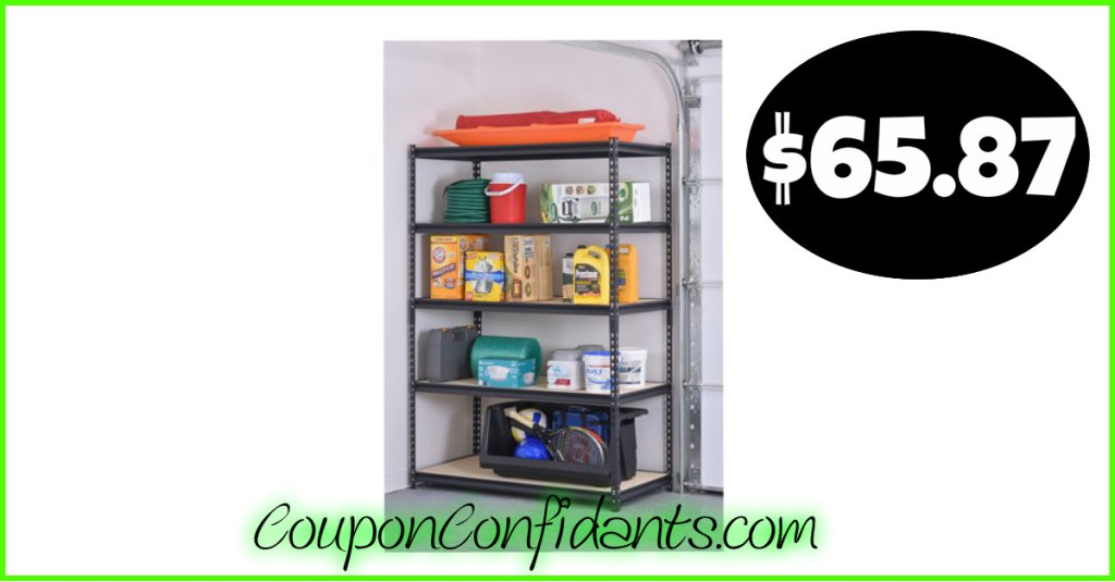 Heavy Duty Shelving Unit only $65.87 (Normally $89)