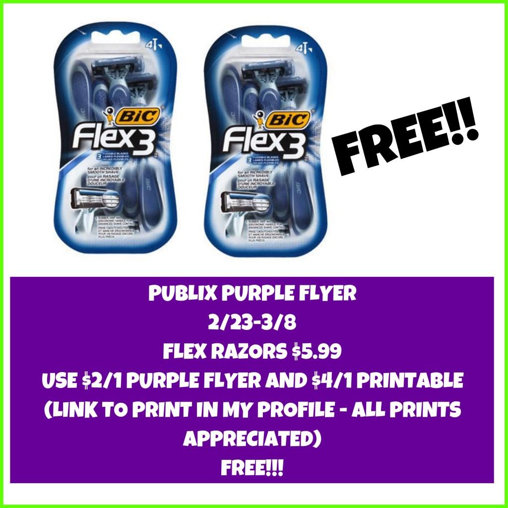 FREE Razors at Publix!