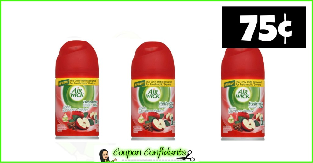 Air Wick Freshmatic Refills only 75¢ at Publix!