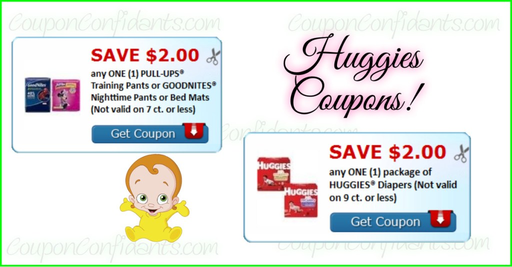 NEW $2 off Huggies and Pull ups too!!
