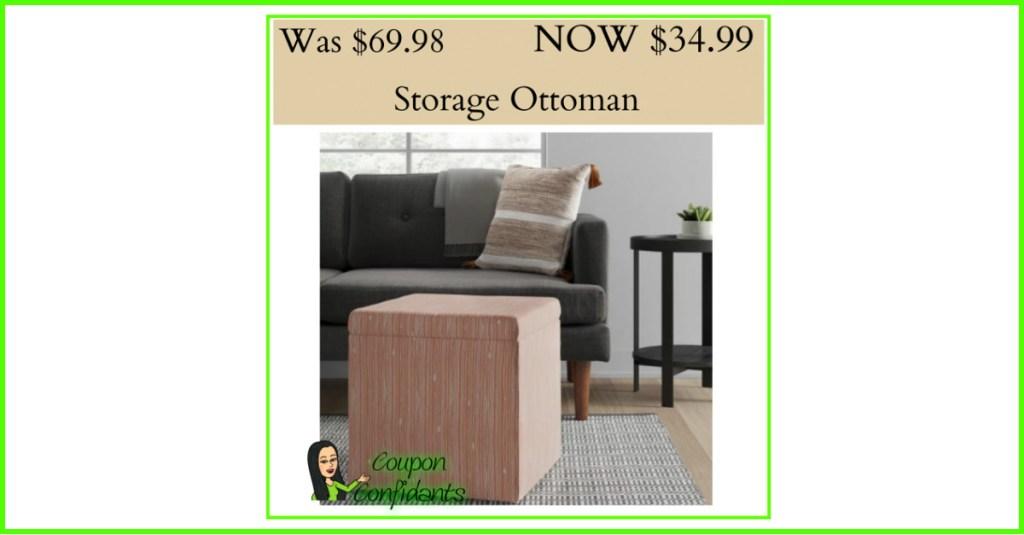 Storage Ottoman 50% OFF at Target!