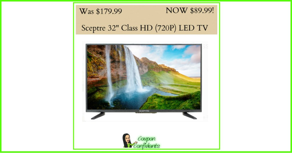 WOW! Save over $90 on this LED TV! FREE 2 day Shipping too!