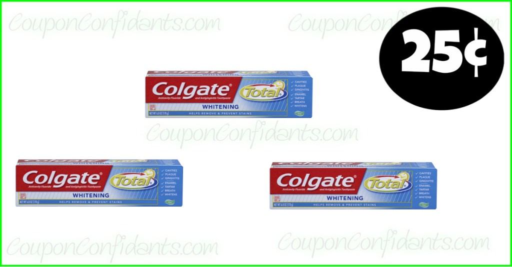 Colgate Toothpaste 25¢ at Winn Dixie and Bilo! WOW!