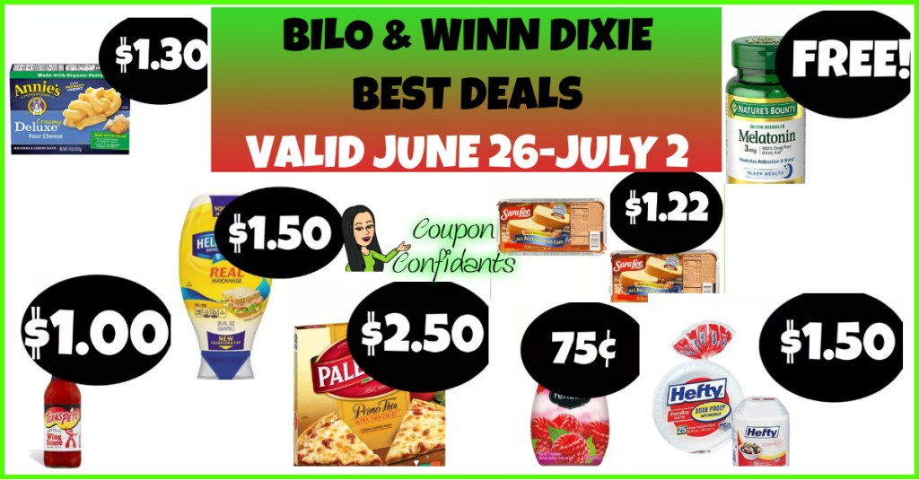 Winn Dixie and Bilo BEST Deals June 26 – July 2