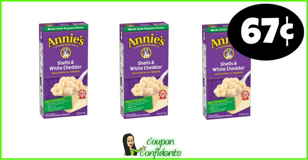 Annie's Macaroni & Cheese 67¢ at Target!