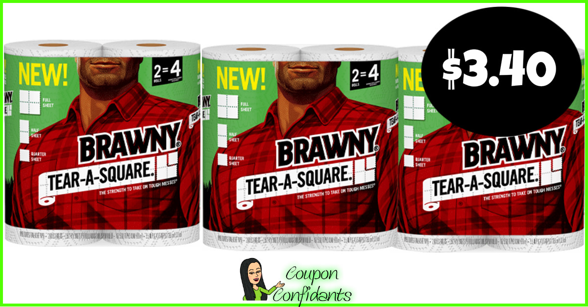 image regarding Brawny Printable Coupons known as Brawny Paper Towels $3.40 at Bilo and $3.95 at Winn Dixie